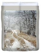 Frosty Trail Duvet Cover