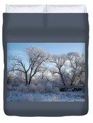 Frosty Trees Duvet Cover