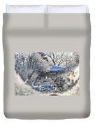 Frosty Winter Window Duvet Cover