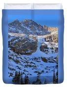 Frozen Black Lake Duvet Cover