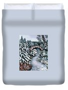 Frozen Brook - Winter - Bridge Duvet Cover