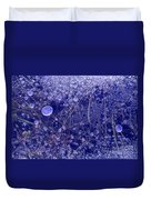 Frozen Bubbles In The Merced River Yellowstone Natioinal Park Duvet Cover