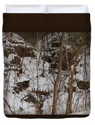 Frozen Dam Duvet Cover