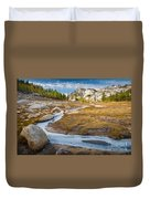 Frozen Enchantments Creek Duvet Cover