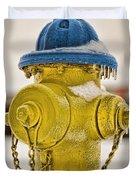 Frozen Fire Hydrant Duvet Cover