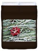 Frozen Flower Duvet Cover