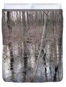 Frozen Forest Floor Duvet Cover