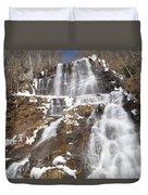 Frozen Falls From The Bridge Duvet Cover