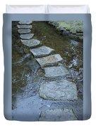 Slippery Stone Path Duvet Cover