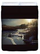 Frozen Marsh Duvet Cover