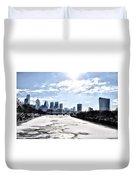 Frozen Philadelphia Cityscape Duvet Cover