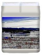 Frozen Pond Digital Painting Duvet Cover