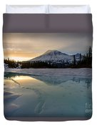 Frozen Rainier Vision Duvet Cover