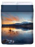 Frozen Reflections Duvet Cover