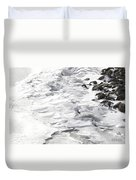 Frozen Shoreline Duvet Cover