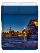 Frozen Skyline Duvet Cover