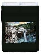 Frozen Snoqualmie Falls Duvet Cover