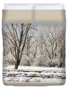 Frozen Swamp Duvet Cover