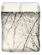 Frozen Tree Branches In Winter Duvet Cover