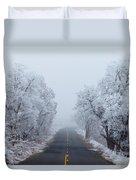 Frozen Trees Duvet Cover