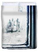 Frozen Windowpane Duvet Cover