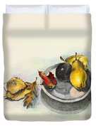 Fruit And Autumn Leaves Duvet Cover