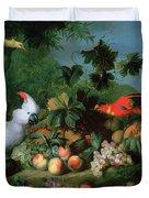 Fruit And Birds Duvet Cover