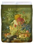 Fruit Flowers And Dead Birds Duvet Cover