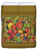 Fruit In Bamboo Box Duvet Cover