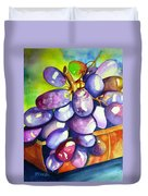 Purple Grapes Duvet Cover