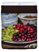 Fruit Plate Duvet Cover