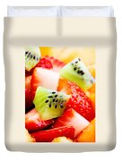 Fruit Salad Macro Duvet Cover