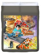 Fruit Shop In The Mountains Of Gran Canaria Duvet Cover