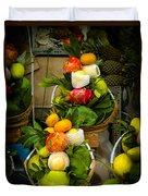 Fruit Stall In Vietnamese Market Duvet Cover