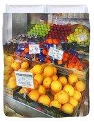 Fruit Stand Hoboken Nj Duvet Cover