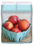 Fruit Stand Nectarines Duvet Cover