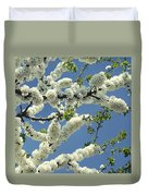 Fruit Tree Blooms Duvet Cover