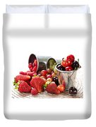 Fruits And Berries Duvet Cover by Elena Elisseeva
