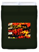 Fruits On The Market Duvet Cover