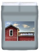 Ft Collins Barn 13493 Duvet Cover by Jerry Sodorff