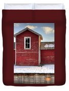 Ft Collins Barn 13496 Duvet Cover by Jerry Sodorff