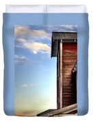 Ft Collins Barn And Moon 13586 Duvet Cover