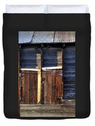 Ft Collins Barn Tin 13547 Duvet Cover by Jerry Sodorff