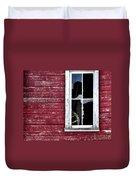 Ft Collins Barn Window 13568 Duvet Cover