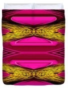 Fuchsia Sensation Zigzags Duvet Cover