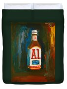 Full Flavored - A.1 Steak Sauce Duvet Cover