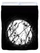 Full Moon And Poplar Branches Duvet Cover