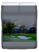 Full Moon At The Philadelphia Cricket Club Duvet Cover by Bill Cannon