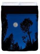 Full Moon In Yosemite Duvet Cover