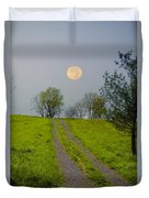 Full Moon On The Rise Duvet Cover